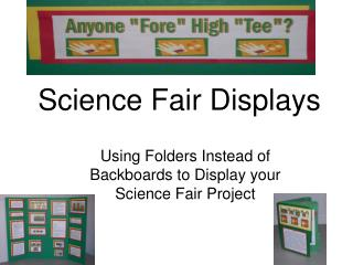 Science Fair Displays