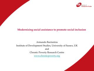 Modernizing social assistance to promote social inclusion