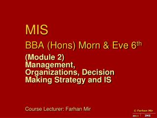 MIS  BBA (Hons) Morn & Eve 6 th
