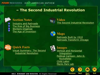 – The Second Industrial Revolution