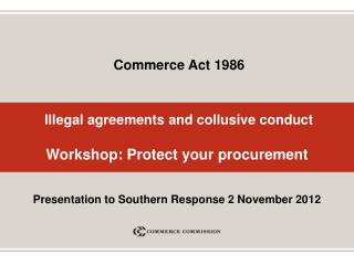 Illegal agreements and collusive conduct Workshop: Protect your procurement