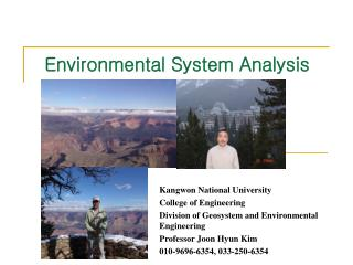 Environmental System Analysis