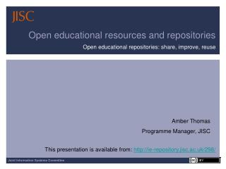 Open educational resources and repositories