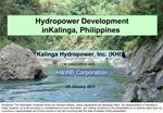 Hydropower Development  in Kalinga, Philippines