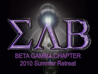 BETA GAMMA  CHAPTER 2010 Summer Retreat