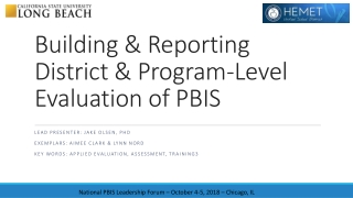 Blueprintfor State and  District-wide PBIS Implementation