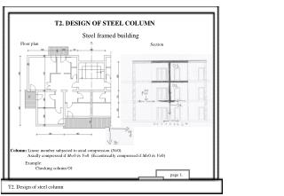 T2. DESIGN OF STEEL COLUMN