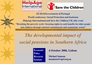 The developmental impact of  social pensions in Southern Africa