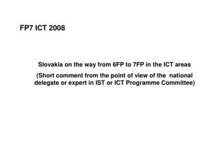 FP7 ICT 2008