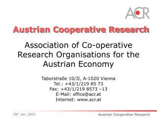 Austrian Cooperative Research