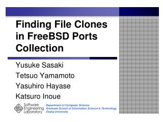 Finding File Clones in FreeBSD Ports Collection