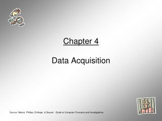 Chapter 4  Data Acquisition
