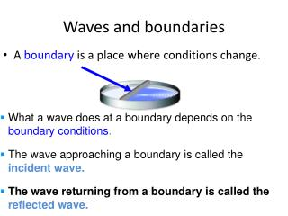 Waves and boundaries