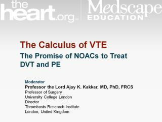 Management of VTE