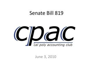 Senate Bill 819