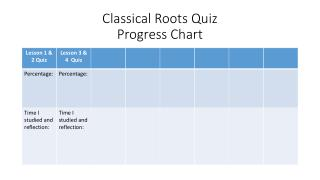 Classical Roots Quiz Progress Chart