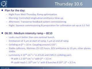 Thursday 10.6