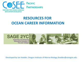 RESOURCES FOR  OCEAN CAREER INFORMATION