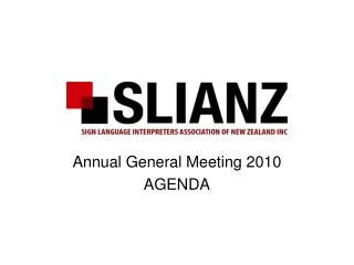 Annual General Meeting 2010 AGENDA