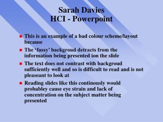Sarah Davies HCI - Powerpoint