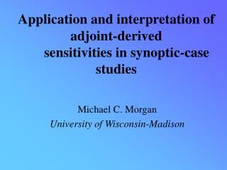 Application and interpretation of adjoint-derived       sensitivities in synoptic-case studies