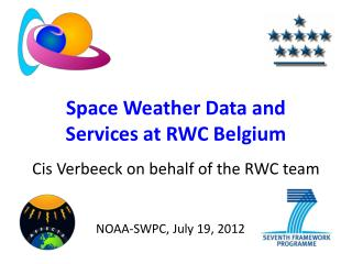 Space Weather Data and Services at RWC Belgium