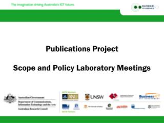 Publications Project Scope and Policy Laboratory Meetings