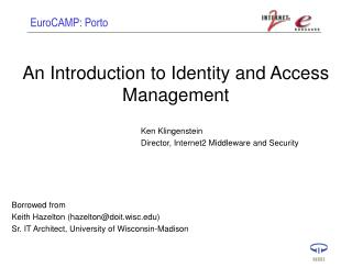 An Introduction to Identity and Access Management