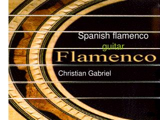 Spanish flamenco guitar