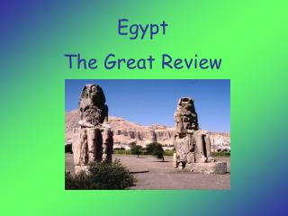 Egypt  The Great Review