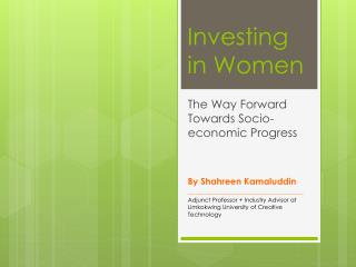 Investing in Women