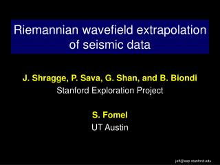 Riemannian wavefield extrapolation of seismic data