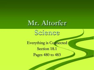 Mr. Altorfer Science