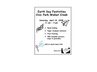 Earth Day Festivities  Civic Park,Walnut Creek
