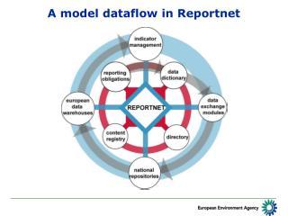 A model dataflow in Reportnet