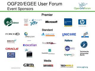 OGF20/EGEE User Forum Event Sponsors