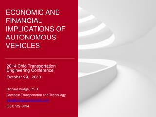 Economic and financial  implications of autonomous vehicles