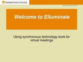 Welcome to Elluminate
