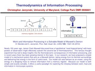 Work and Information Processing in a Solvable Model of Maxwell ' s Demon