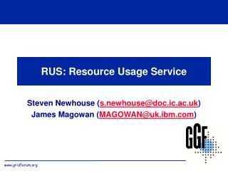 RUS: Resource Usage Service