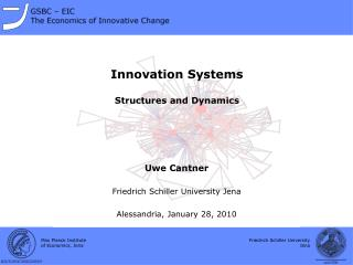 Innovation Systems Structures and Dynamics