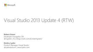 Visual Studio 2013 Update 4 (RTW)