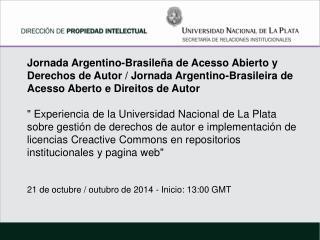 REPOSITORIOS INSTITUCIONALES  UNLP -    SEDICI (  Universidad Nacional de La Plata)