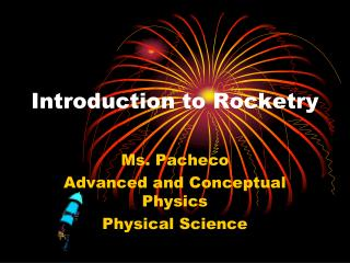 Introduction to Rocketry
