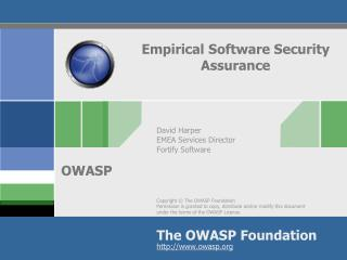 Empirical Software Security Assurance