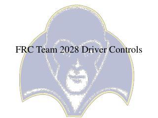 FRC Team 2028 Driver Controls