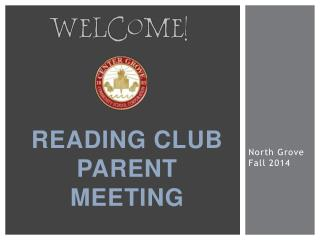 Reading club Parent Meeting