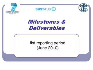 Milestones &  Deliverables