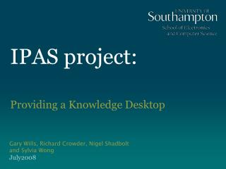 IPAS project: