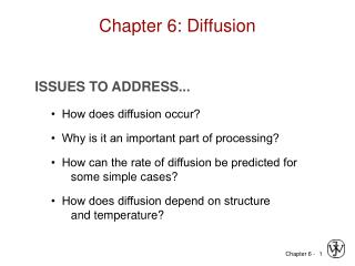 Chapter 6: Diffusion